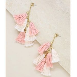 ettika Jewelry - Ettika Gold Plated Daydreamer Peach Tassle Earring